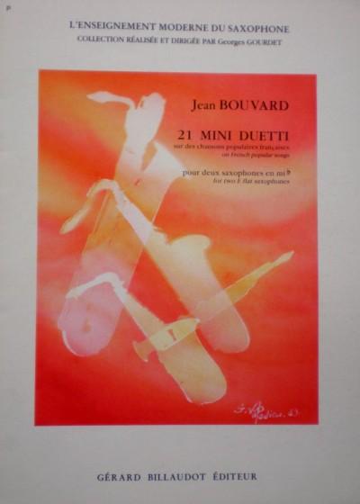 21 mini dueto para dos saxofones Jean Bouvard
