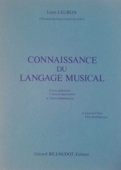 Conocimiento del lenguaje musical. Legron