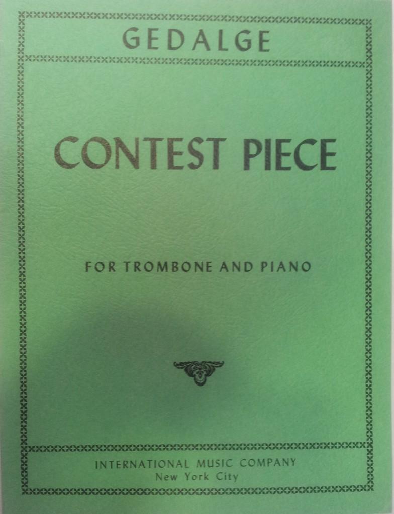 Contest Piece trombón y piano Gedalge