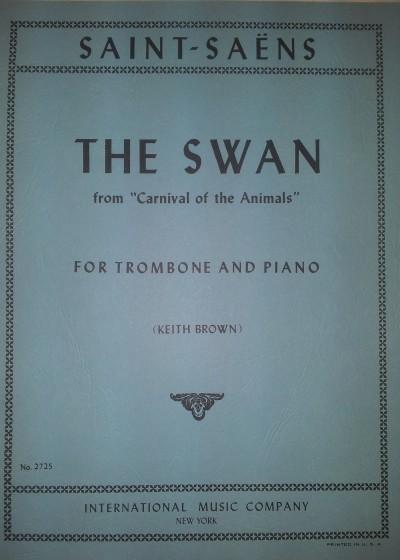 El Cisne trombón y piano Saint-Saëns