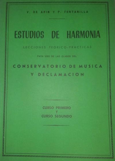 Estudios de armonía Curso 1º y 2º