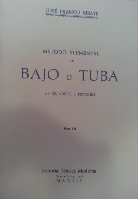 Método elemental de Bajo o Tuba Ribate