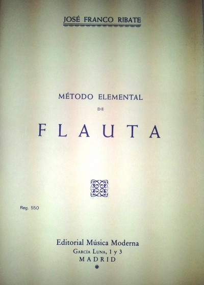 Método elemental de flauta Ribate