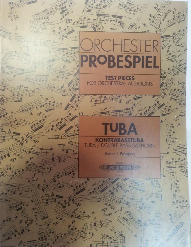 Orchester Probespiel para tuba (Evans / Pröpper)