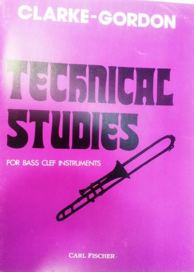Estudios técnicos para trombón Clarke – Gordon
