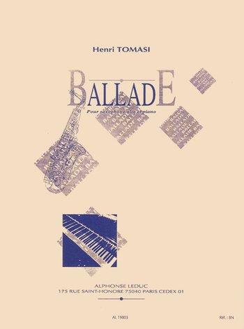 Ballade para saxofón alto y piano Henri Tomasi