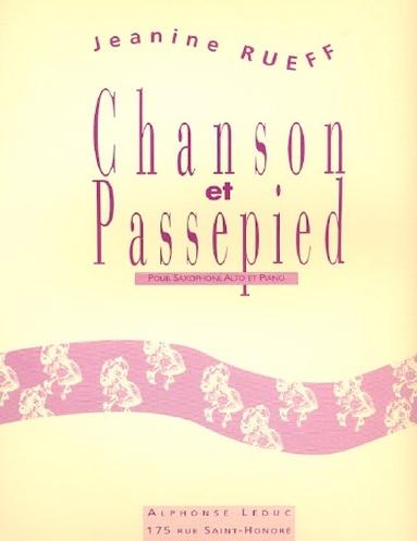Chanson et Passepied para saxofón alto y piano Jeanine Rueff